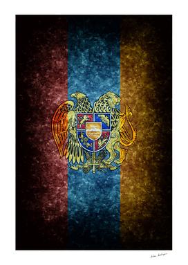 Armenian flag on mable