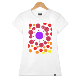 Beautiful colorful pattern of circles, hearts, and stars