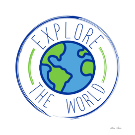 Explore The World, travel poster, travel design, travel tee