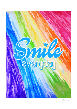 Smile Everyday, colorful crayon, kids room