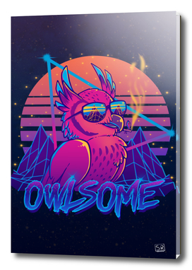 Owlsome - Owl Awesome Bird Retrowave 80s