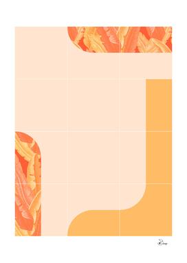 Mid-Century Tropical Orange Mood