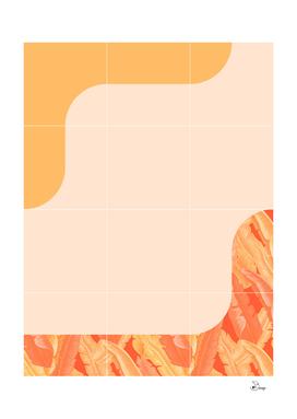 Mid-Century Tropical Orange Way