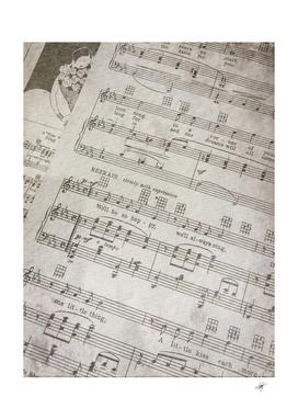 sheet music paper notes antique