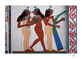 egypt fresco mural decoration