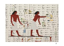 egyptian design men worker slaves