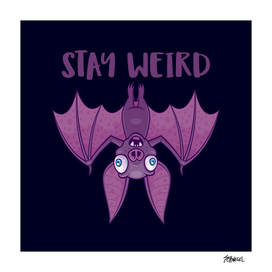 Stay Weird Cartoon Bat