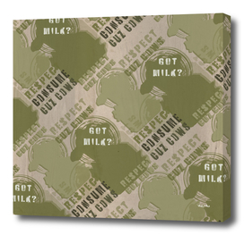 GOT MILK ? green pattern