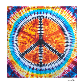 Tie dye Peace Sign