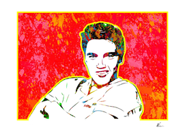 Elvis Presley | Splatter Series | Pop Art