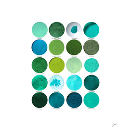 Pigments Verts. Green Pigments