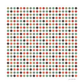Retro pink green polka dots pattern by ARTbyJWP [ioan