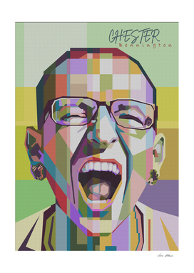 Chester Bennington in pop art