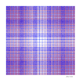 Thin Blue and Purple Speckled Tartan Pattern