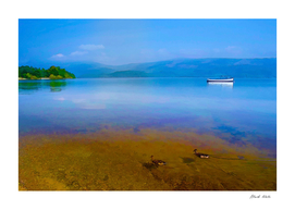 Tranquil Lake Painting of Loch Lomond