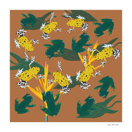 Tropical Frogs Pattern
