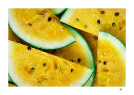 sliced watermelon lot