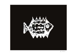 Fish white-black