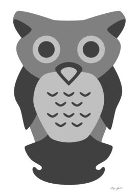 Sad Black Owl
