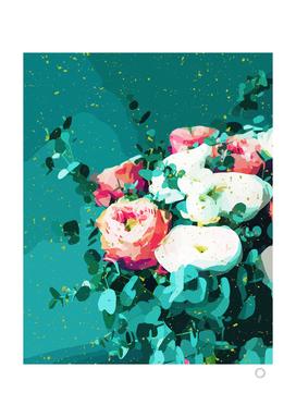 Floral & Confetti
