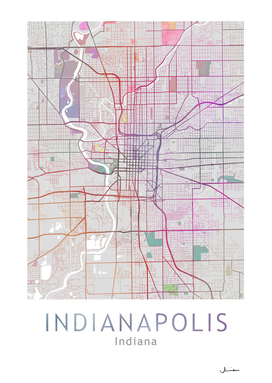 Indianapolis Map in Color