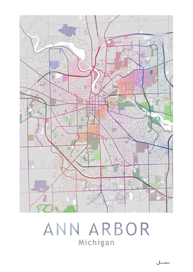 Ann Arbor Map In Color