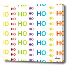 Ho ho ho colorful typography