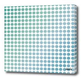 Soft green polka dots on white