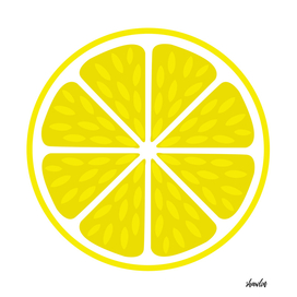 Fresh juicy lime- Lemon cut sliced section