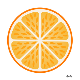 Orange slice with peel