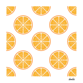 Orange slice fruit pattern Citrus