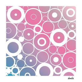 Minimalistic pink blue gradient circle composition