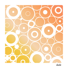 Minimalistic orange yellow gradient circle composition