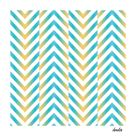 Herringbone zig zag chevron pattern in blue and yellow