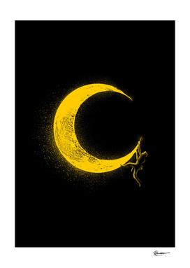Climbing moon