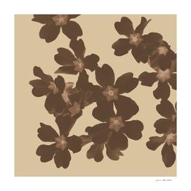 Toffee soybean primroses pattern