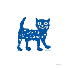 Navy blue cat