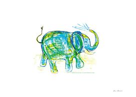 An elephant 1
