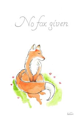 No fox given watercolor