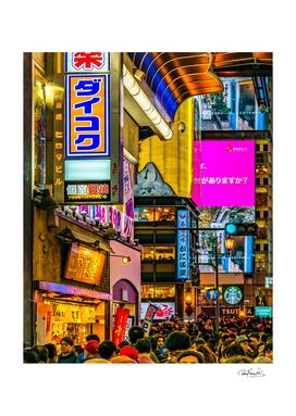 Dotonbori Night Scene, Osaka, Japan