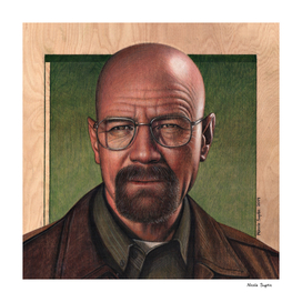 Walter White Colored Pencil Drawing