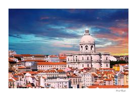 Iconic Lisbon Church Sky
