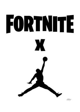 x jump man text black