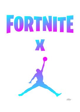 x jumpman text gradient