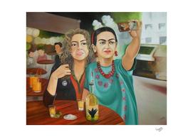 Frida y yo, tomandonos una selfie