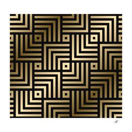 Geometric pattern seamless luxury gold vector