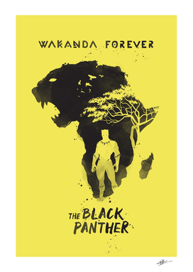 The Black Panther movie art