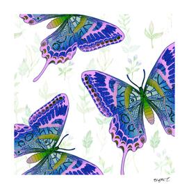 Summery Botanical Butterflies