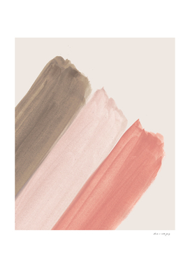 Watercolor Summer Stripe Delight #1 #minimal #decor #art