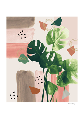 Monstera Summer Glam #1 #tropical #decor #art